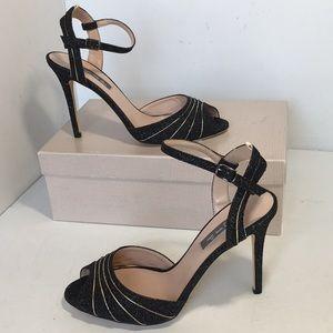 SJP Sarah Jessica Parker glitter Heels sandals